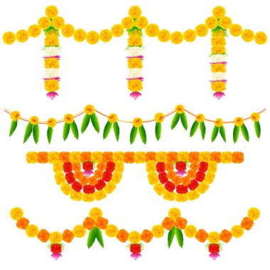Illustration of colorful flower arrangement for festival decoration stock vector