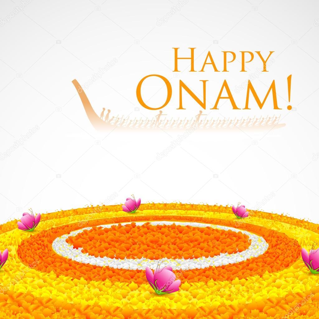 Flower Rangoli for Onam — Stock Vector © vectomart #31076341 for Flower Rangoli Vector  lp4eri