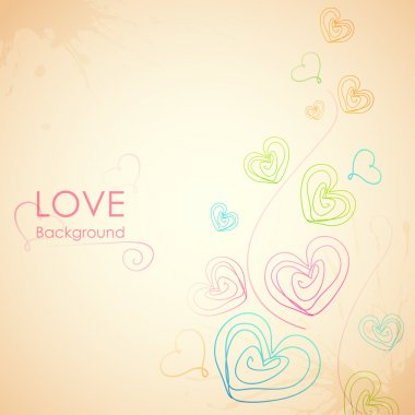 Illustration of Sketchy Heart in Love Background stock vector