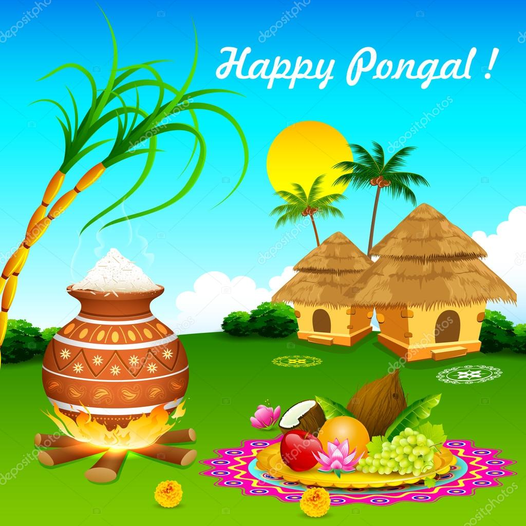 Happy Pongal Stock Vector Vectomart 37870763