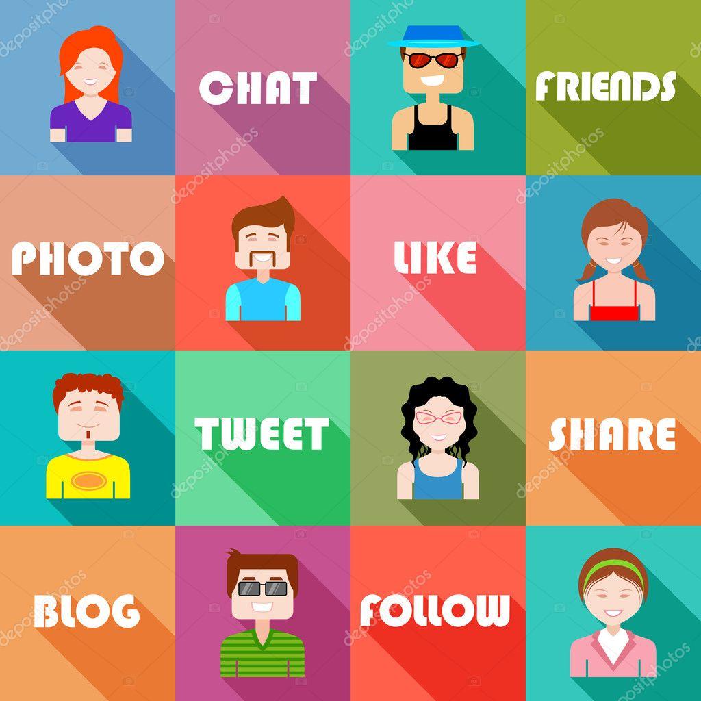 Flat Design People Icon