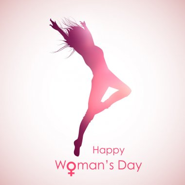 Illustration of Happy Woman's Day concept clip art vector