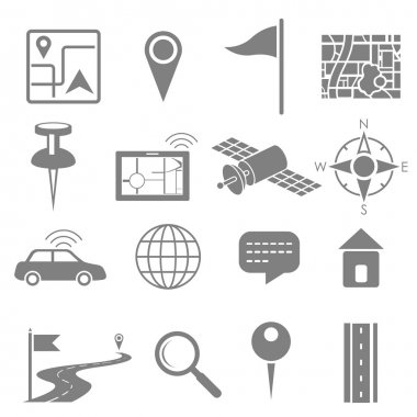 Navigation icon set for GPS application