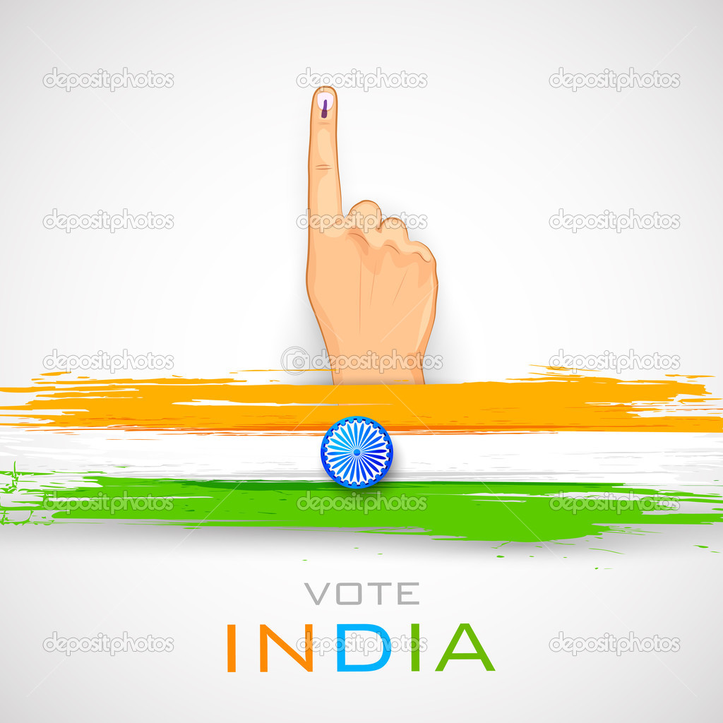 Hand With Voting Sign Of India Stock Vector Vectomart 43542647