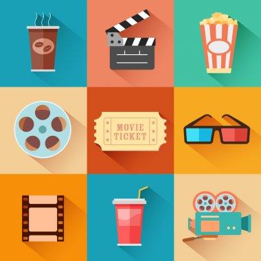 Movie and Film icon set