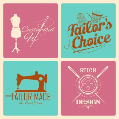 Vintage style label for tailor emblem