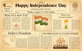 Fényképek a boldog függetlenség napja-India szüreti újság