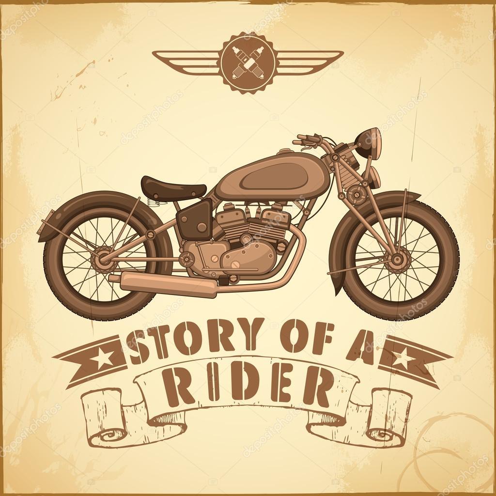 Motos vintage vector de stock vectomart 50727583 for Imagenes retro vintage