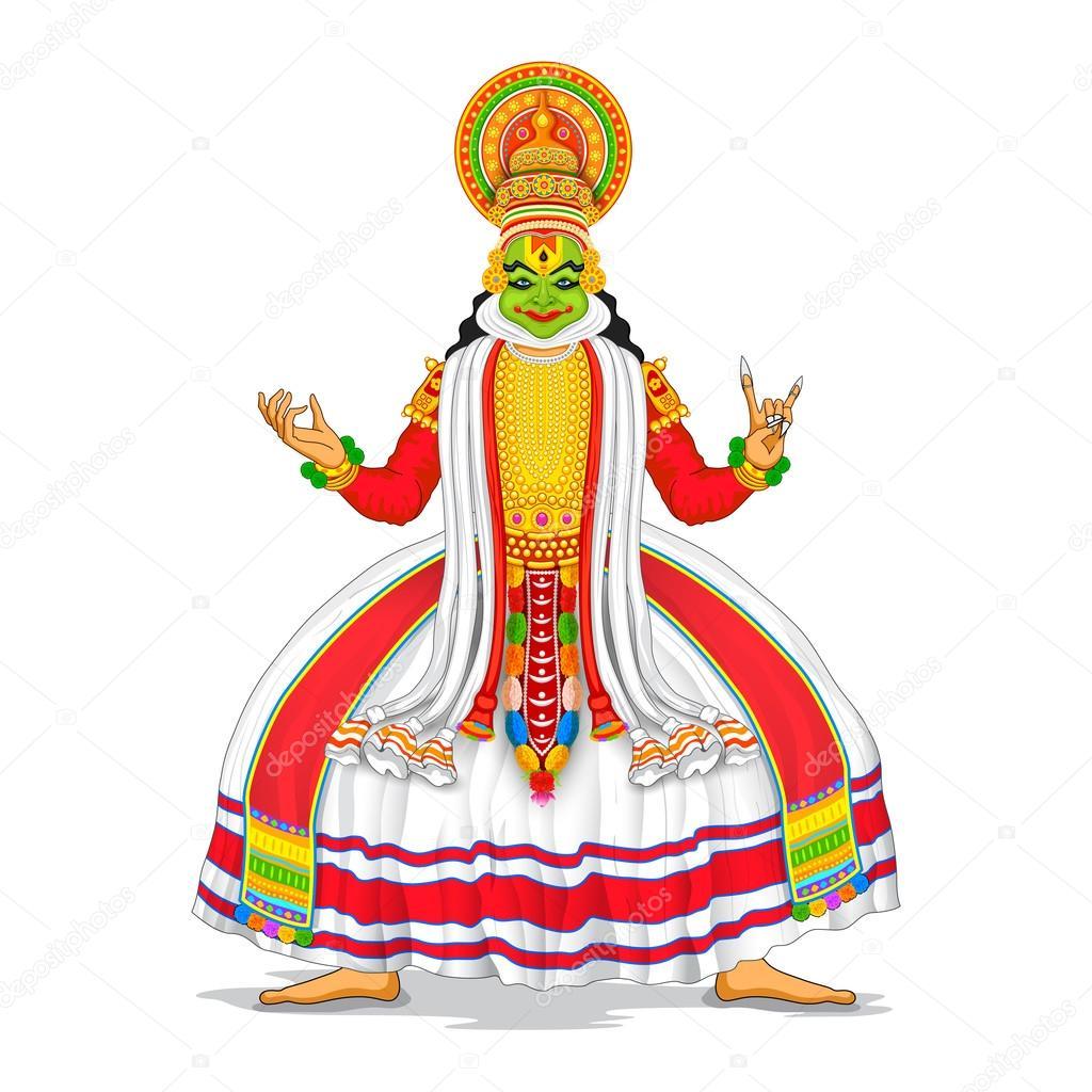 Kathakali Dancer Stock Vector C Vectomart 51594819