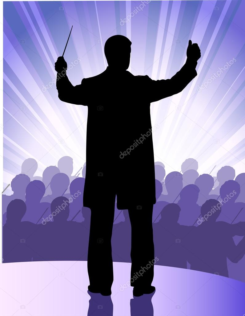 Conductor before public