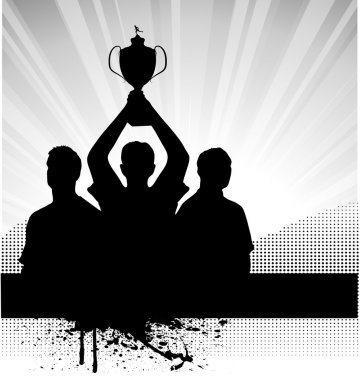 Silhouette of the champion