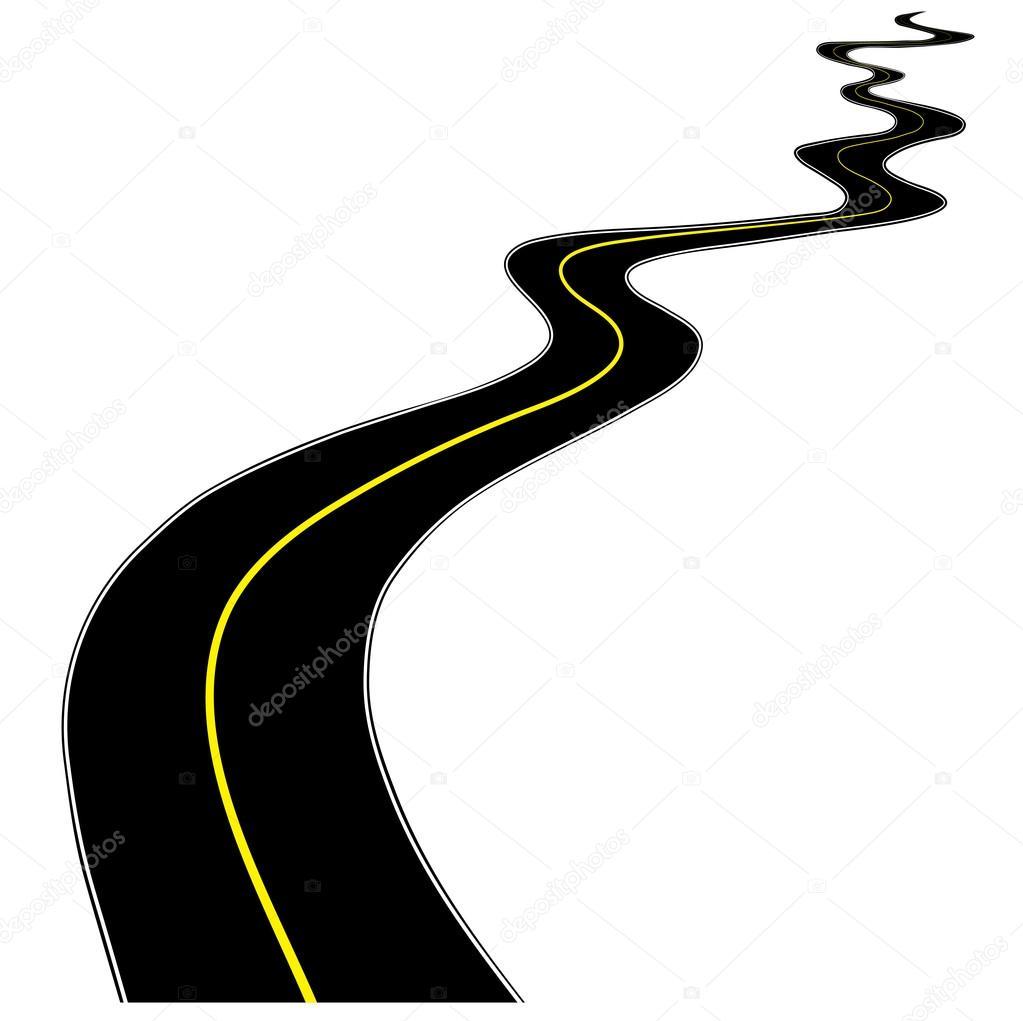 Strada Su Uno Sfondo Bianco Per Il Vostro Disegno Vettoriali Stock
