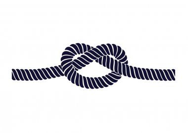 Rope knot on a white background
