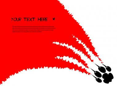 Tearing claws predator with space for your text