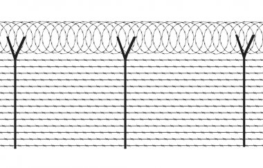 Fencing element from a barbed wire