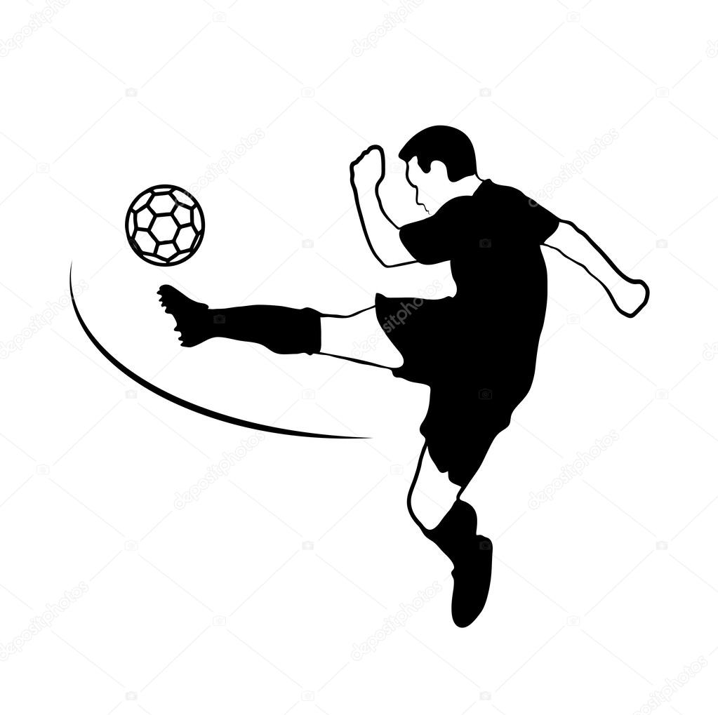 Drawing Of A Football Player Stock Vector C Matc 47688407