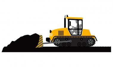 Bulldozer working
