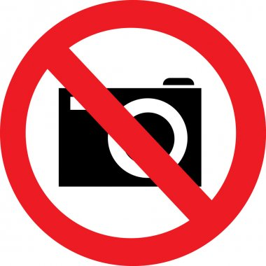 No camera vector sign