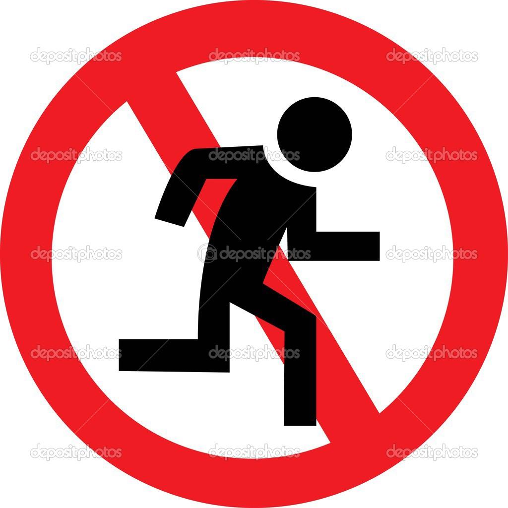 Vector: señal de prohibido correr | prohibición de correr ...