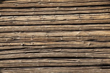 Textured background of rough, weathered wood stock vector