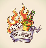 Roll the dice - tattoo design