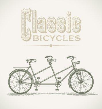 Classic tandem bicycle