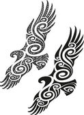 modello di tatuaggio Maori - Aquila