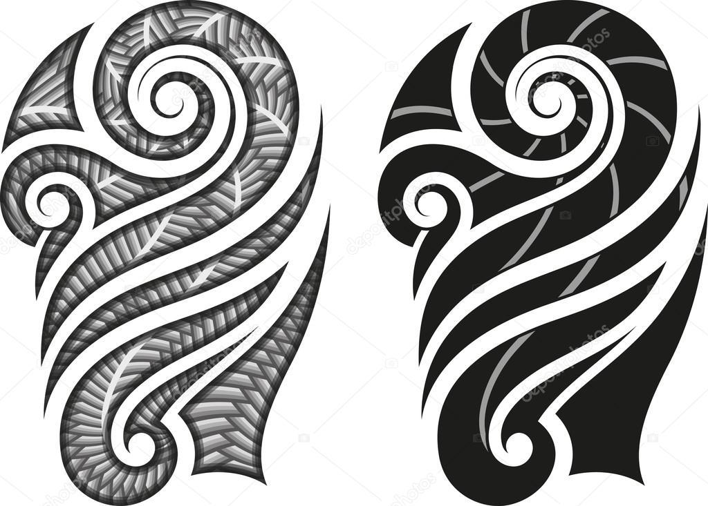 maori tatua wz r grafika wektorowa artefy 35808471. Black Bedroom Furniture Sets. Home Design Ideas