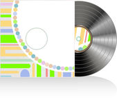 Vinyl-CD-Cover in abstrakte Textur