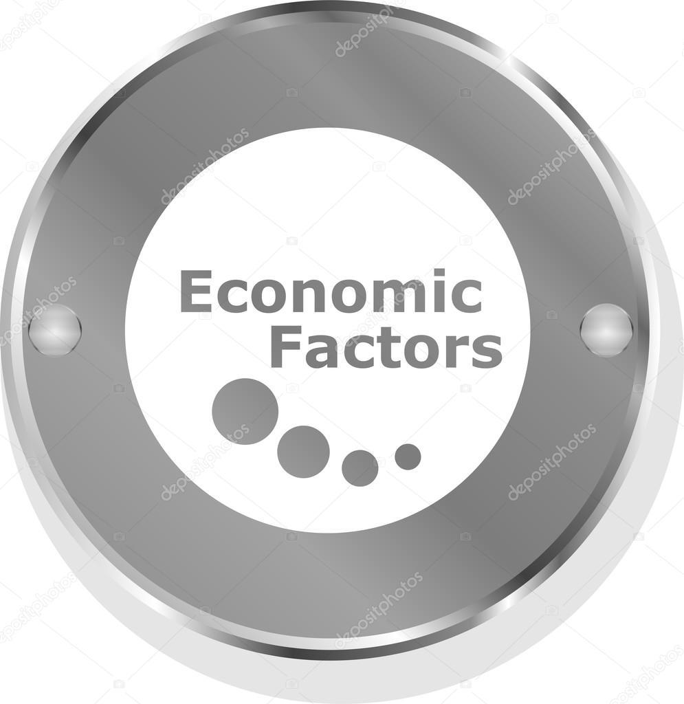 Economic Factors Metallic Button