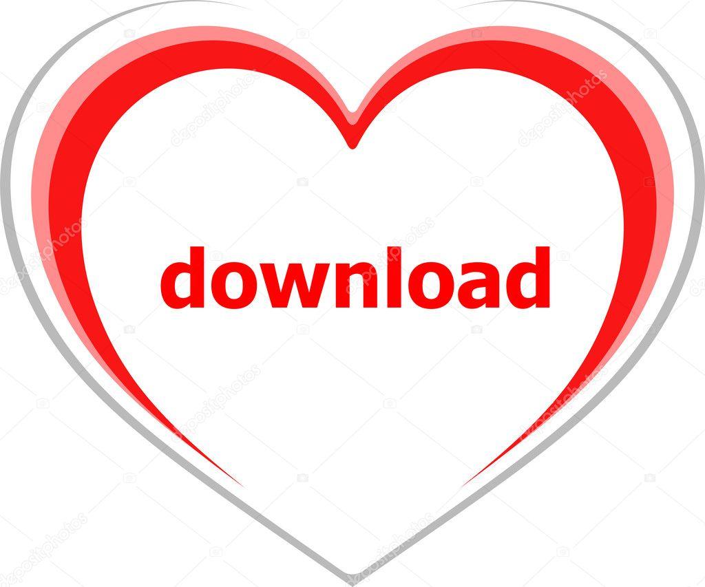 Concept De L Internet Télécharger Word Sur Coeur D Amour