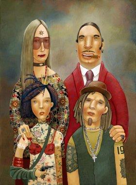 Mad family portrait