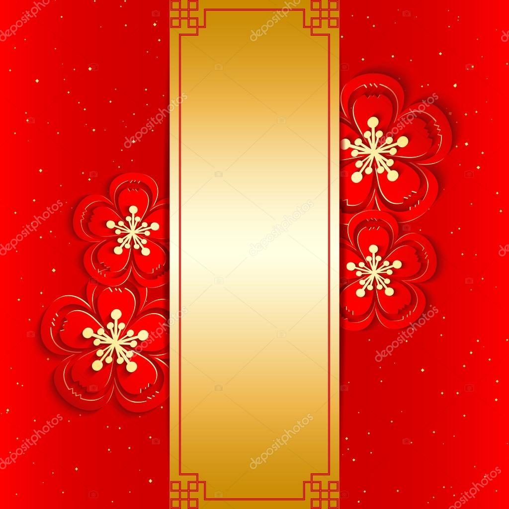 Chinese New Year Greeting Card Stock Vector Meikis 35378677