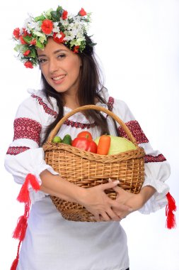 girl in Ukrainian costume