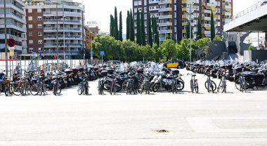 Motorcycle parking space