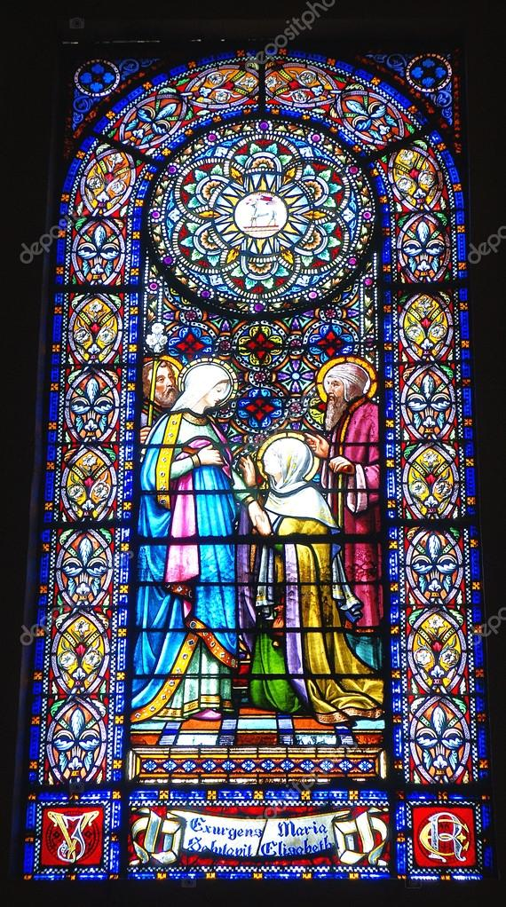 Finestre di vetro e decorato all interno della basilica di nostra Signora  di montserrat– immagine stock 3e88272382c
