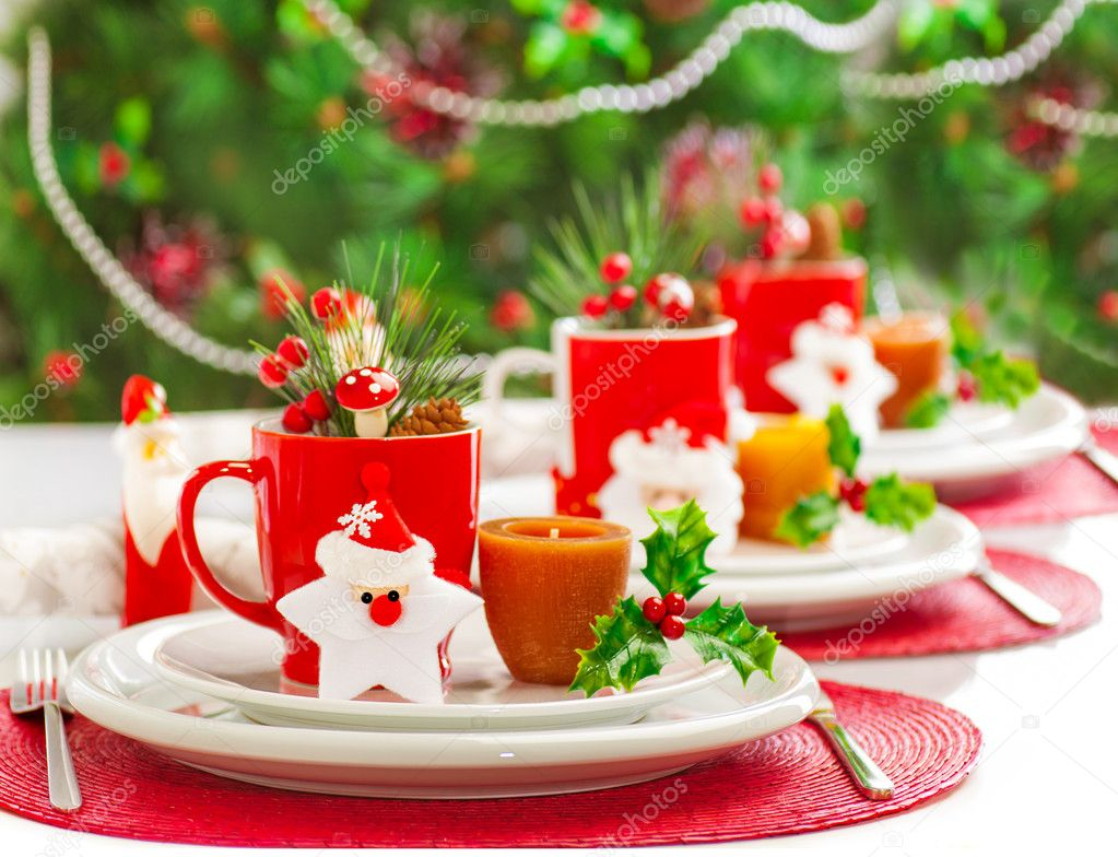 Kerst Tafel Decoratie : Kerst diner decoratie u2014 stockfoto © anna om #15827367