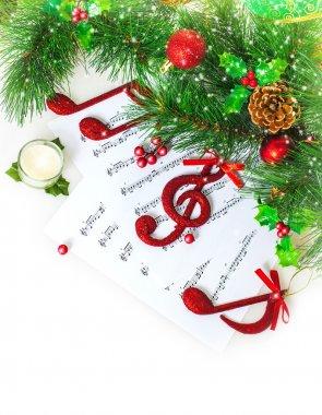 Christmas musical border
