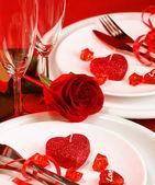 Romantische Tischdekoration