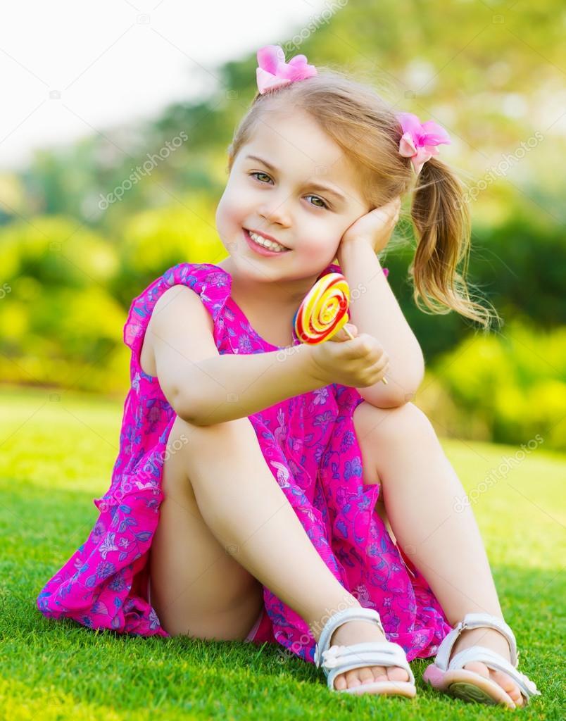 Little Girl With Lollipop Stock Photo Anna Om 20590547