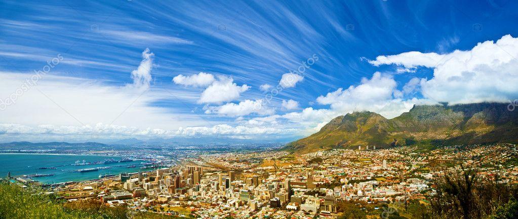 Coastal city landscape