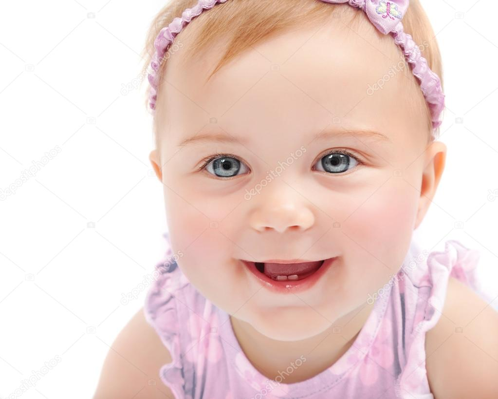 cute baby girl portrait — stock photo © anna_om #25463813