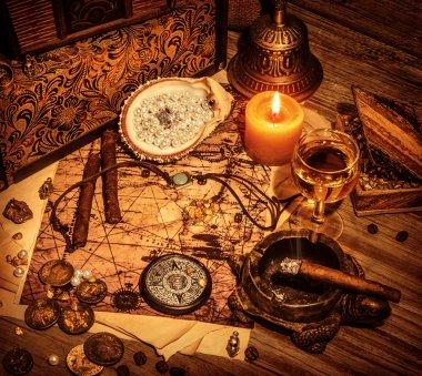 Pirates treasure background
