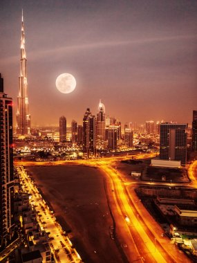 Dubai in moonlight
