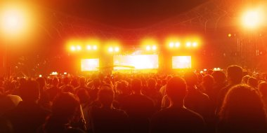 Many people on the concert