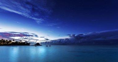 Starry night on Maldives