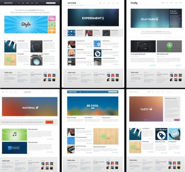 6 Website Page Template Layout - Web Design