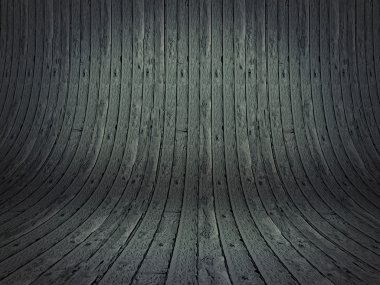 Realistic 3D presentation empty room - wood background texture