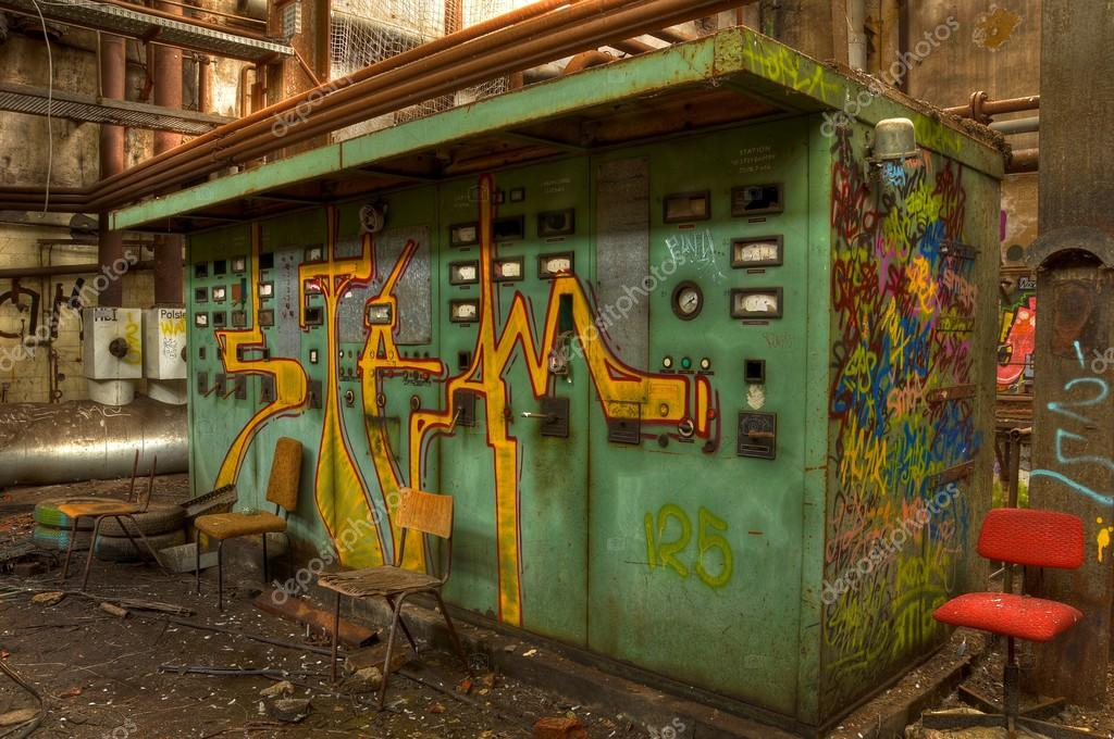big old fuse box in an abandoned hall stock photo stefan 90 rh depositphotos com Electrical Panel large fuse box