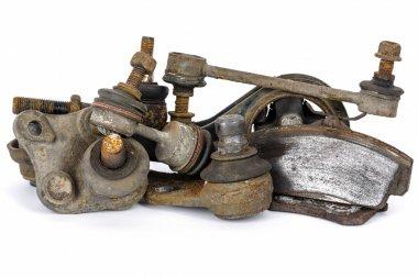 Worn out suspension auto parts